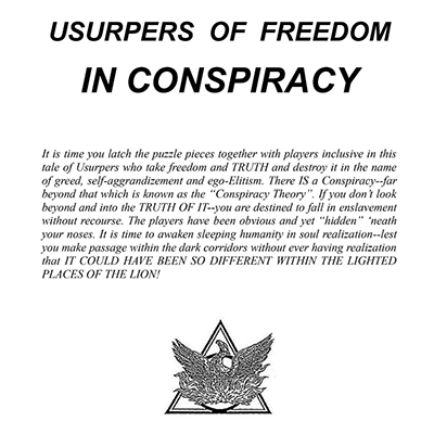 Phoenix Journal 99 Usurpers Of Freedom In Conspiracy
